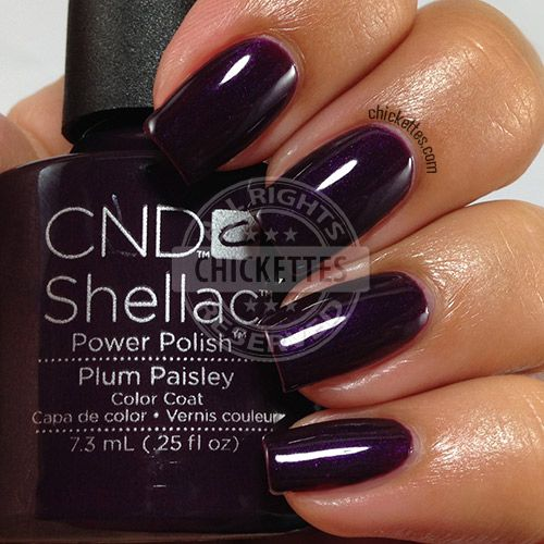 CND Shellac Modern Folklore Collection - Plum Paisley - swatch by Chickettes.com