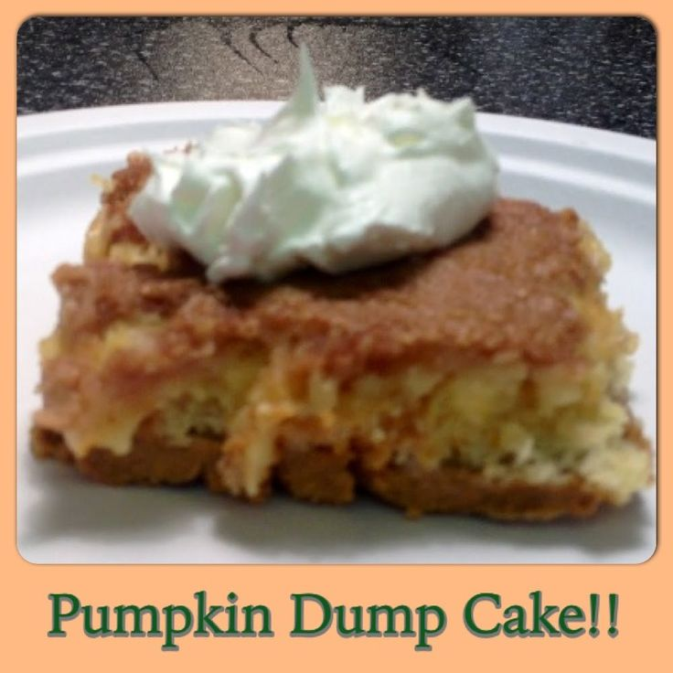 Weight Watchers Pumpkin Dump Cake