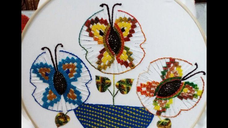 Puntada Mariposas Grandes En Solecitos Parte 1 Con Miky Ru.