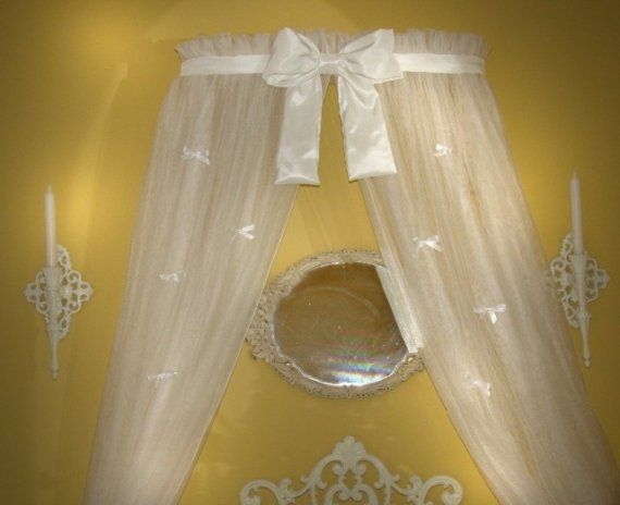 Princess bed canopy crown with curtains included sale - Canopy bed curtains for sale ...