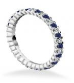 Blue Saph and Diamond Stacking Ring - can be done in different gemstones colours    www.samuelkleinberg.com  info@samuelkleinberg.com
