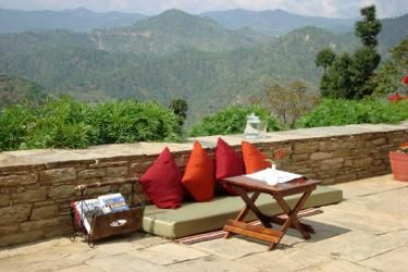 Courtyard at Itmenaan Estate, Uttarakhand, India
