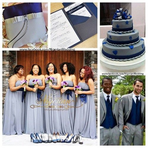 Navy Blue And Grey Wedding Color Scheme