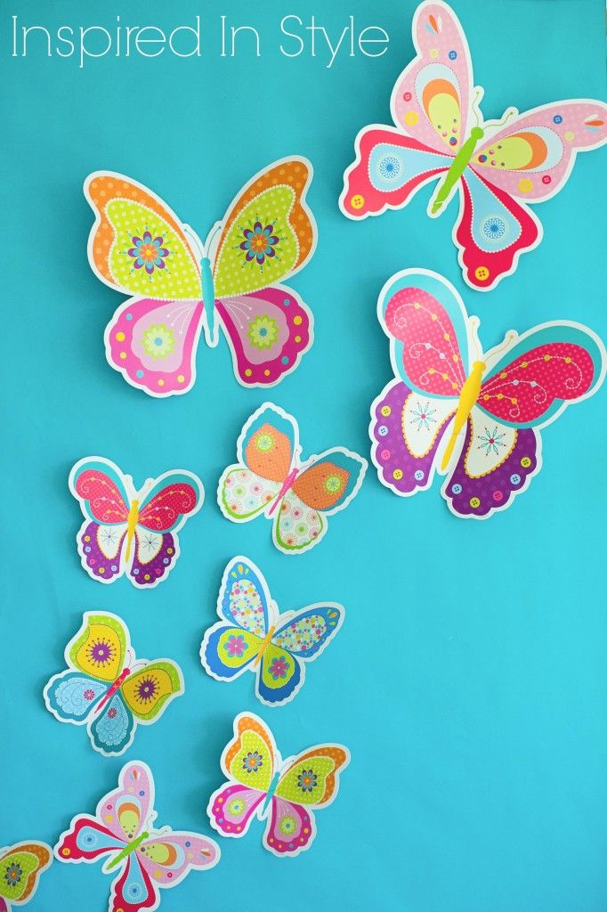 To make butterflies look 3D, fold CTP's butterfly cut-outs to make them flutter.