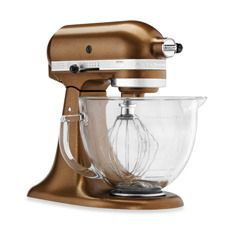This copper finish Kitchen-Aid mixer is great