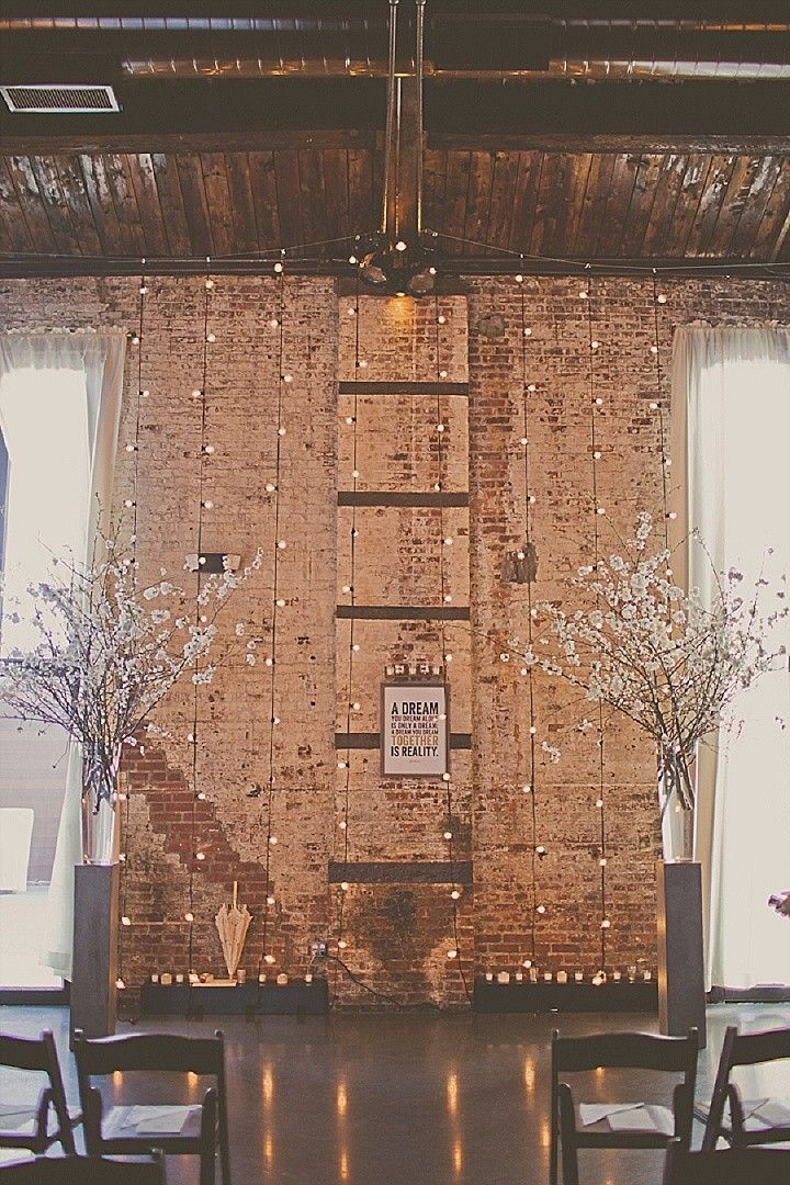 Wedding Ideas: The Industrial-Style Soirée - wedding ceremony idea; Stacy Paul Photography