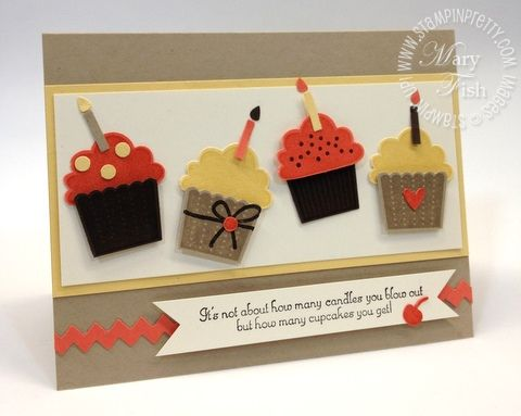 Stampin+Up+Birthday+Card+Ideas | Stampin' Up! Birthday Card Cupcakes - Mary Fish, Stampin' Pretty. The ...