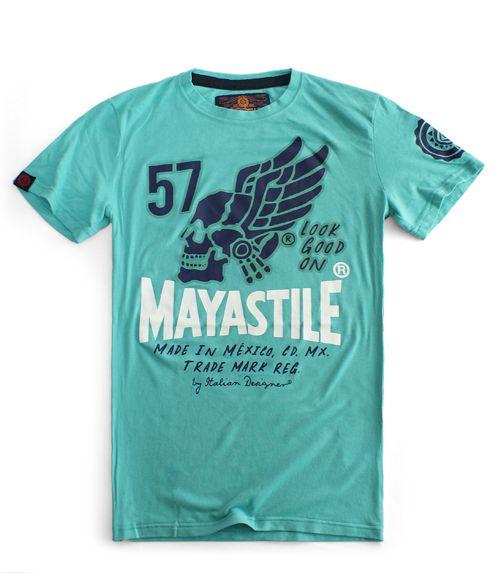 T-shirt Look Good On Skull - Mayastile® #skull #wings #fly #outfit #man #green #tee