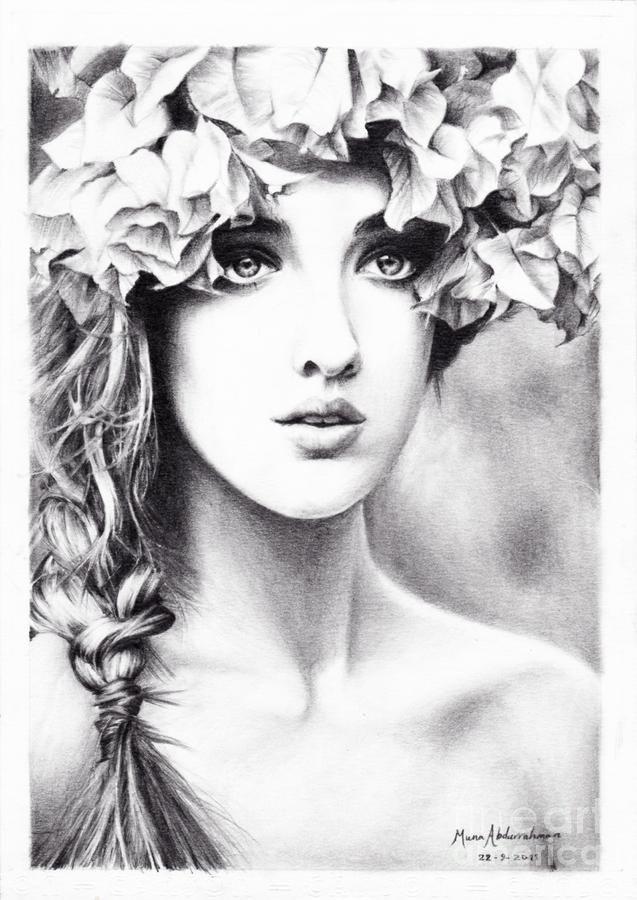 Floral crown and loose plait