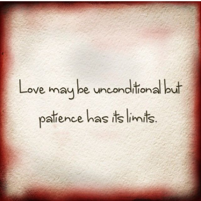 Love maybe uncondition...