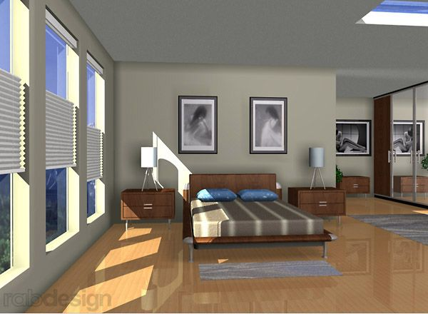 Bedroom 3D Model Rendering