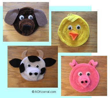 Check out this fun tutorial for making chenille stick animal heads for magnets or stick puppets! Swaps!