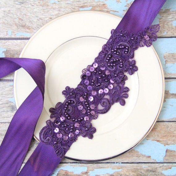Ciruela de color púrpura oscuro con lentejuelas y por lovelikestyle