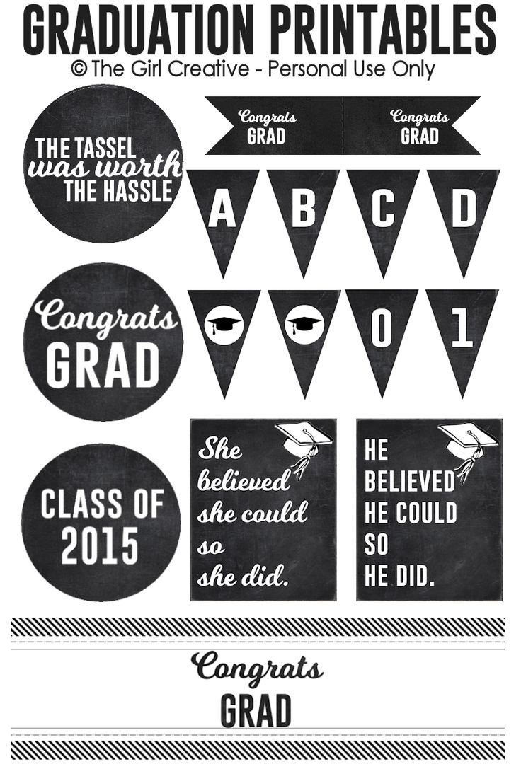 166 best graduation party images on pinterest graduation ideas graduation printables negle Images