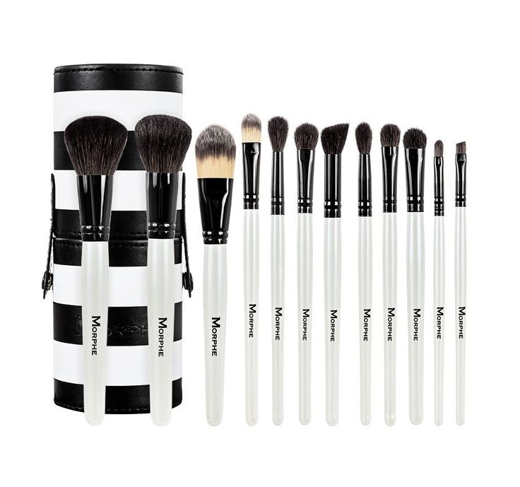 SET 706 - 12 PIECE BLACK AND WHITE TRAVEL SET use discount code: KIMTHAI at checkout