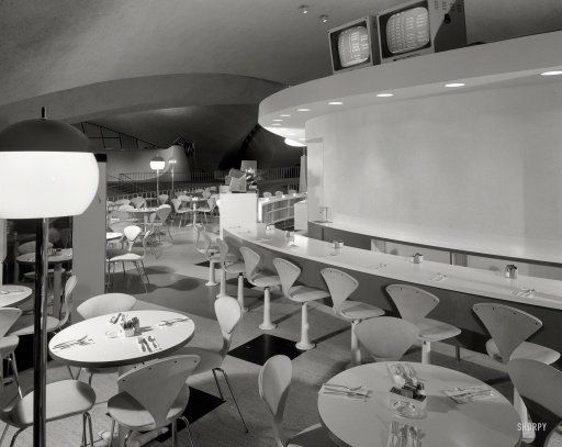 Jet Set Coffee Shop: 1962 TWA Terminal New York - Trans World Airlines