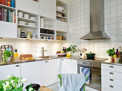 iskandinav stili mutfak dekorasyonu
