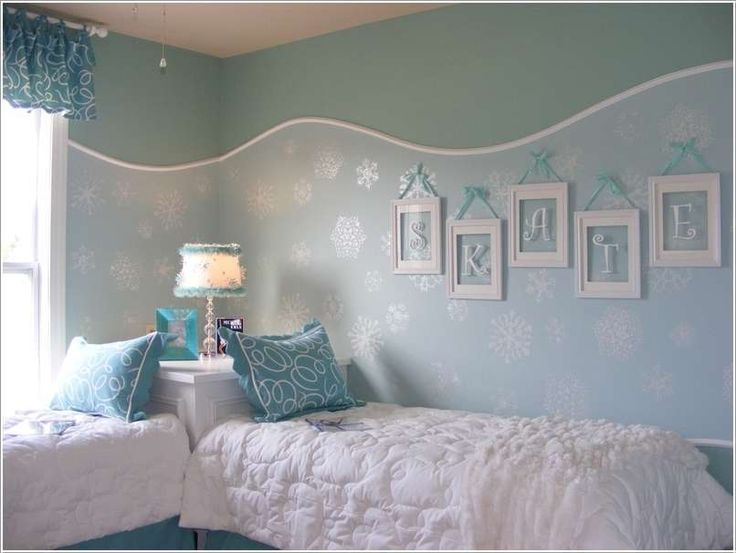 Love this room...but replace framed name with Frozen posters art.