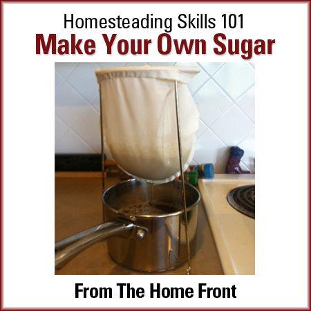 How to make your own sugar without bees or trees - the way your great grandparents did. Recipe and step by step instructions.