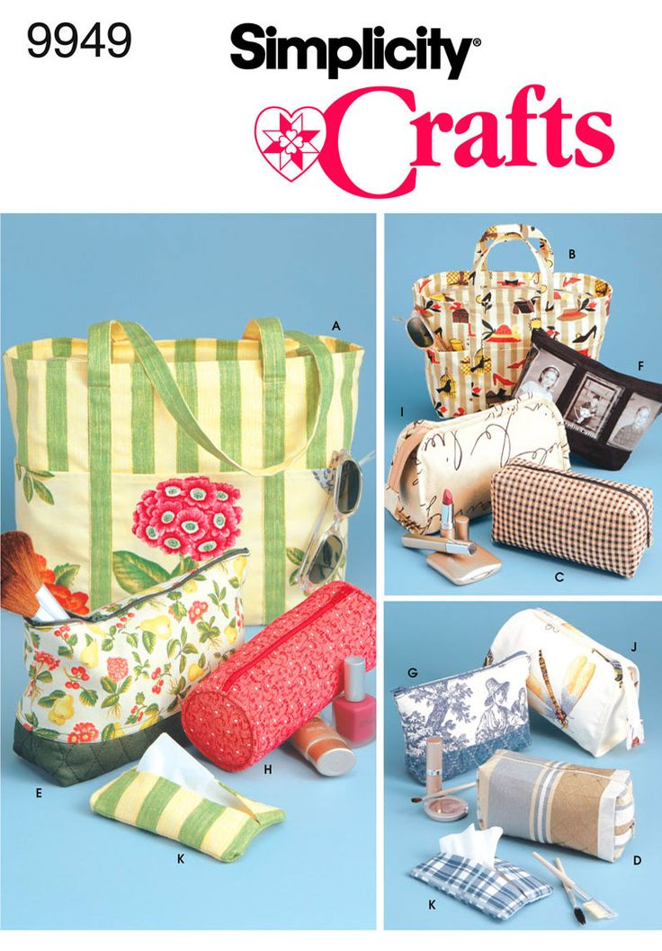 Simplicity Crafts Sewing Pattern 1079 Bags /& Organisers