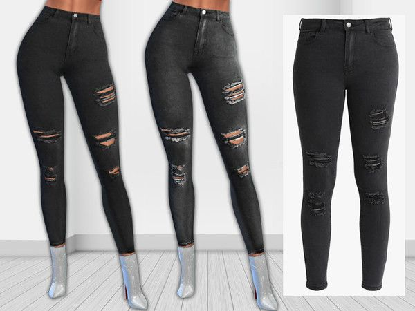 Even Odd Level Ripped Jeans The Sims 4 Download Simsdomination Ripped Jeans Designs Ripped Jeans Sims 4