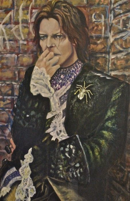 David Bowie by ©Æ Sastrias 2006 | Acrylic and Oil on canvas | People Pop | $530 | Bluethumb - Online Art Gallery