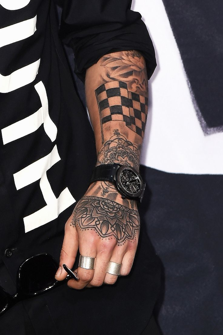 Zayn Malik Crossed Fingers Tattoo
