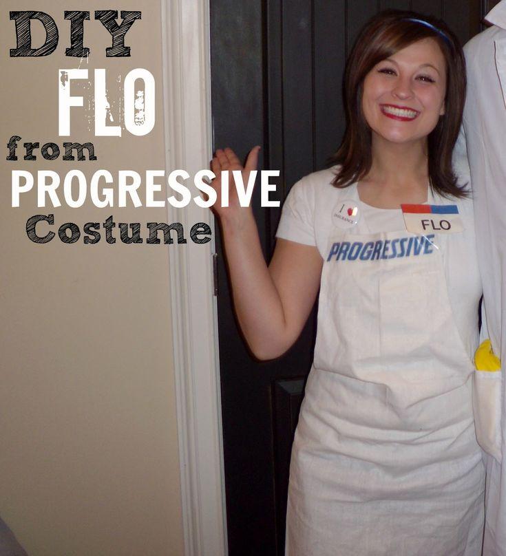 DIY Flo from Progressive Halloween Costume #tutorial #adult #halloween #costume