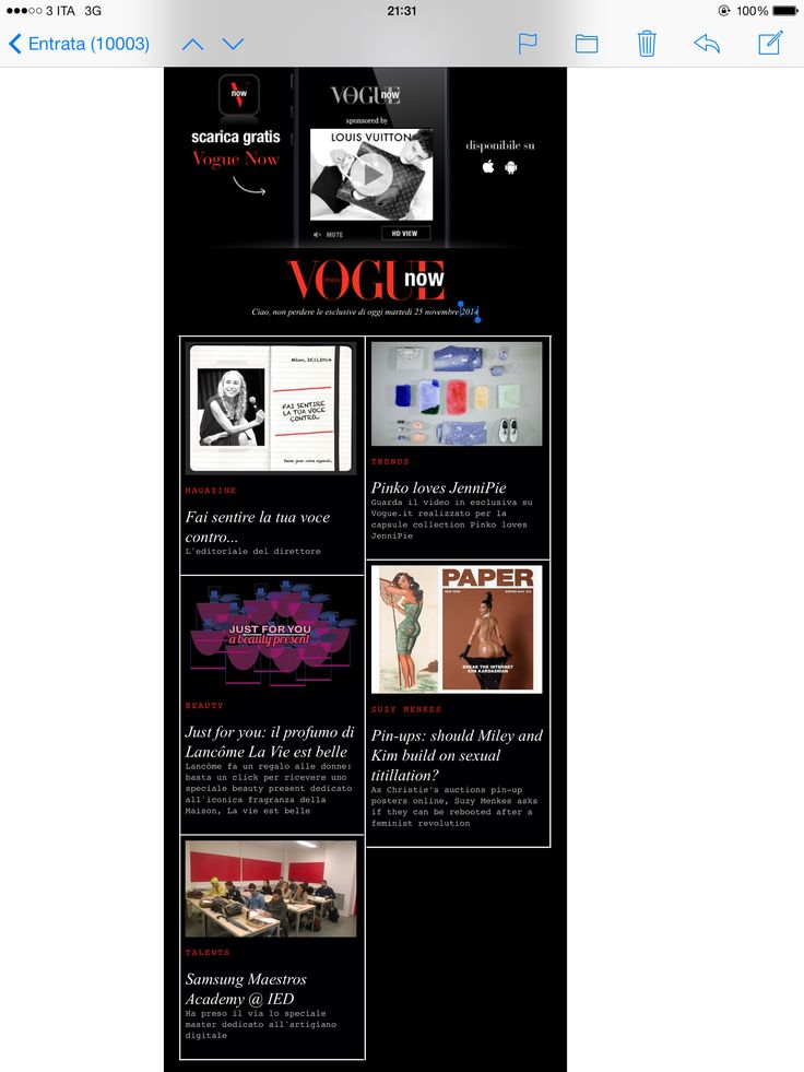 Newsletter Vogue / Samsung Maestros Academy @ IED milano