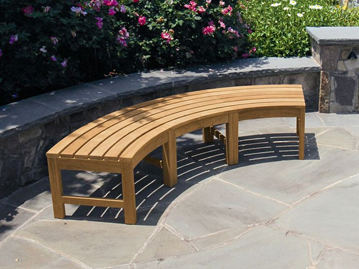 29 best garden images on Pinterest Curved bench Garden benches