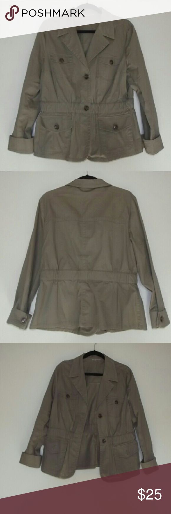 Women's utility jacket Army green utility jacket with buttons and four pockets Jackets & Coats Utility Jackets