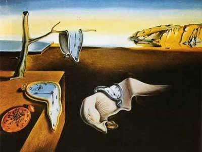 In one of my classrooms in high school, there was a poster of this Salvador Dali painting. I'd gaze at it, fascinated, for long periods of time,thinking about surrealism and the meaning of life. Typical teenage angst.