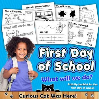 Activity booklet for the first day of school.