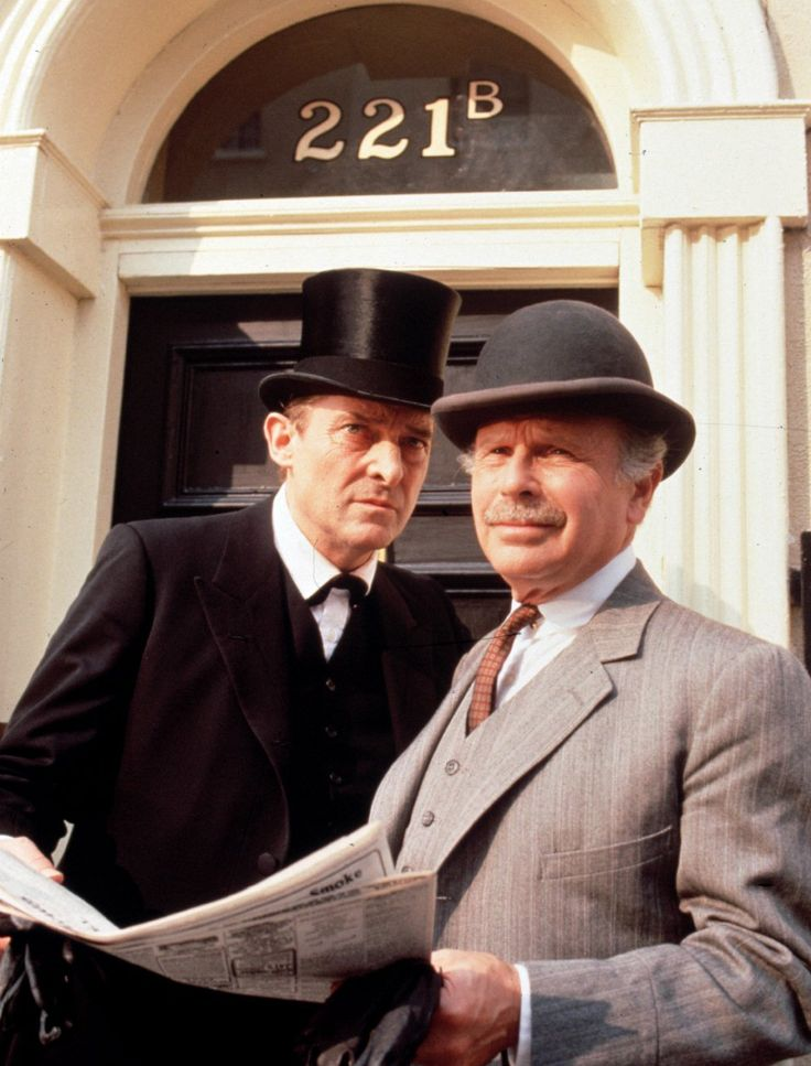 "Edward Hardwicke, right, played Dr. Watson to Jeremy Brett's Sherlock in several television series, including ""The Return of Sherlock Holmes,"" ""The Casebook of Sherlock Holmes"" and ""The Memoirs of Sherlock Holmes"" in the 1980s and '90s. (Frank Goodman)"