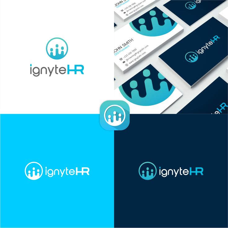 ignyteHR logo and bussines card designs.  Logo designs by me/Dito.K