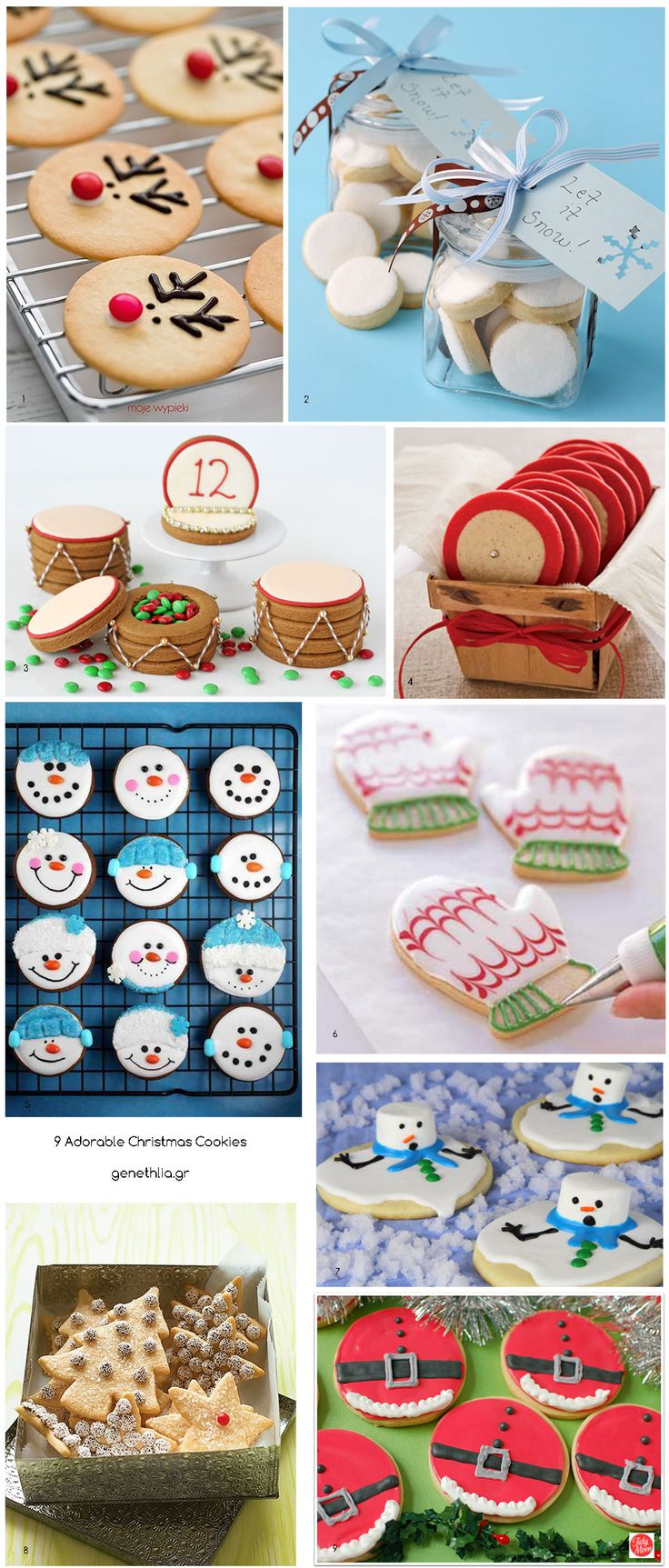 9 Adorable Christmas Cookies Ideas- 9 Ιδέες για καταπληκτικά χριστουγεννιατικα μπισκοτα