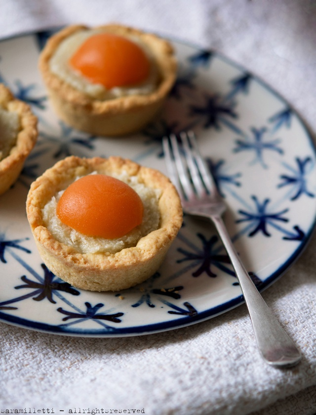 tarts with coconut cream and apricot syrup!