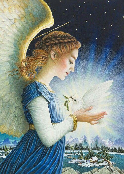 Winter Solstice | Art, Angel art, Fairy paintings