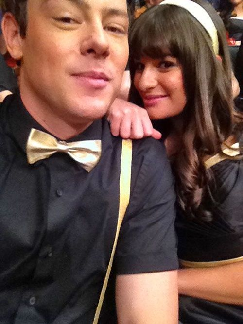Cory Monteith Lea Were Hookup Glee Michele And Before