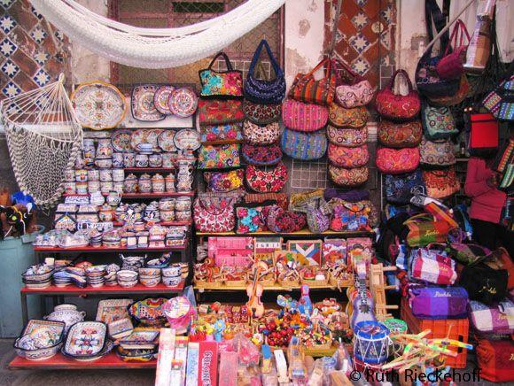 Wide array of goods, El Parian, Puebla, Mexico