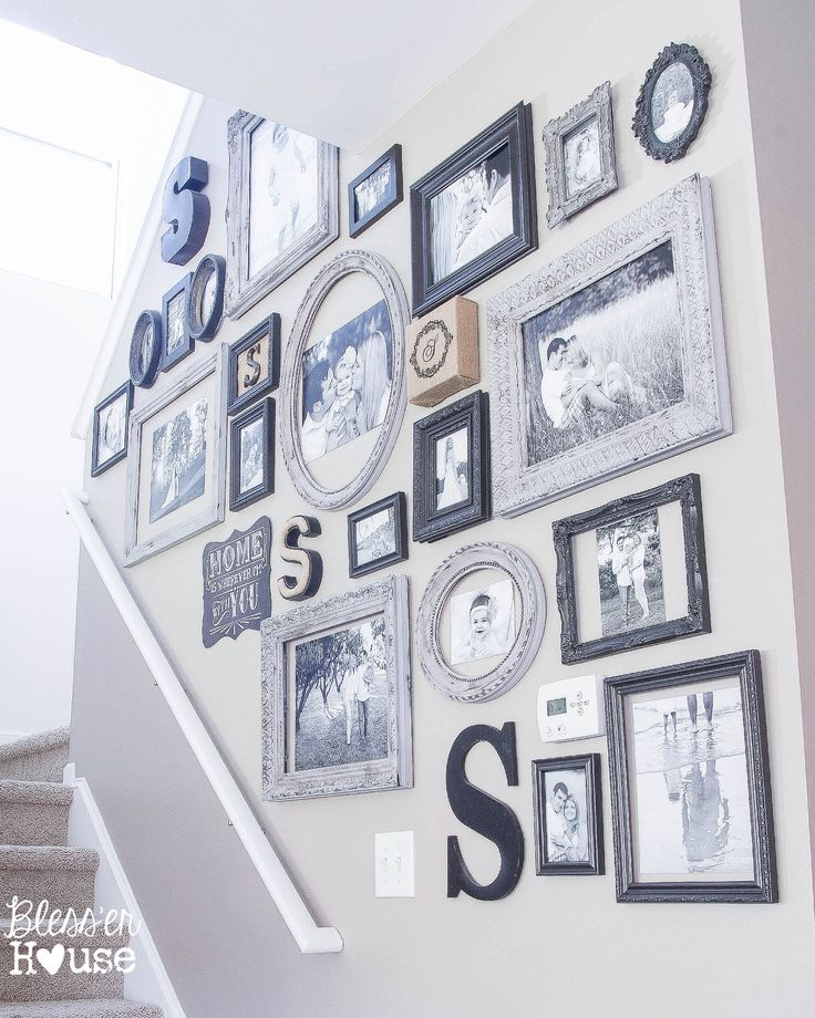 12 Goodwill Shopping Secrets Revealed | Bless'er House Black and grey gallery wall