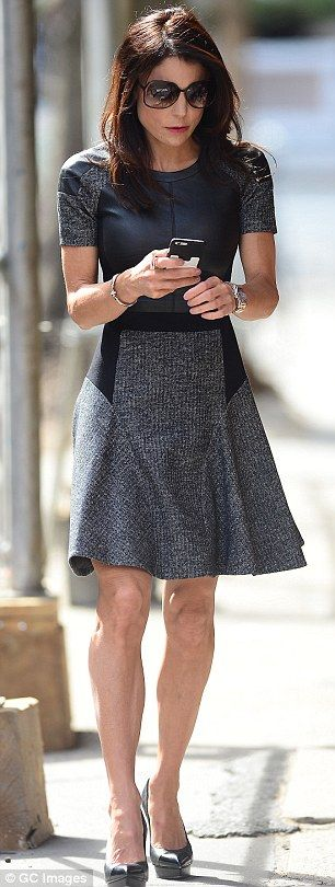Multitasker: Bethenny Frankel wore two different monochrome ensembles while promoting her ...