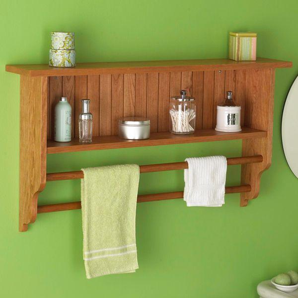 Полка и вешалка для полотенец Деревообработка план, Крытый Главная Мебель для ванной комнаты План проекта | деревянный магазин