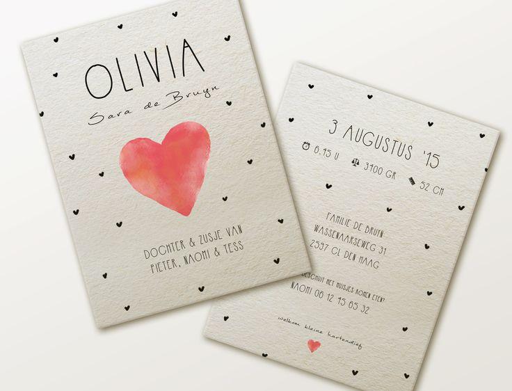 geboortekaartje ontwerp Olivia