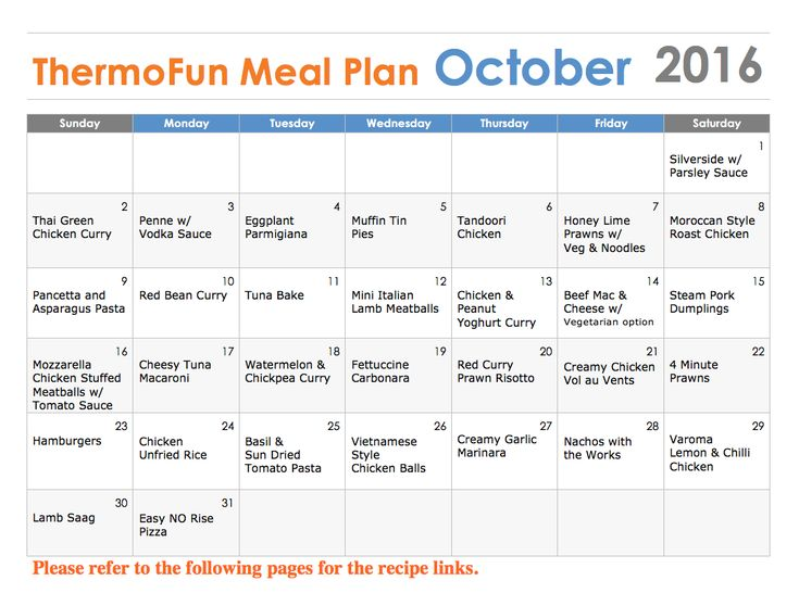 ThermoFun October FREE Thermomix Meal Plan | ThermoFun | Thermomix Recipes