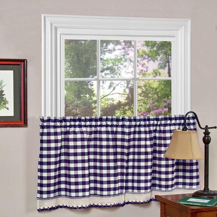 Achim Buffalo Check Blend Tier Curtain Panels 1 Pair 58 X