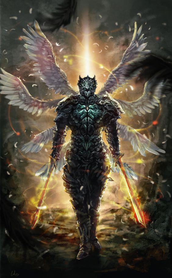 A Razão da Queda | meusite Uma luz surpreendente que chicoteia e rebate em todos atravessando suas carnes angelicais.   Azieel se defende como pode com sua espada flagelo,