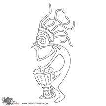 Tatuaggio Di Kokopelli Rasta Musica Viaggio Tattoo Custom Tattoo.