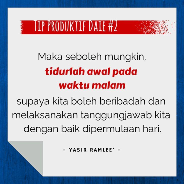 Tip Produktif Daie #2 by Yasir Ramlee'!  InsyaAllah kami akan 'share'kan tip - tip bagaimana untuk menjadi Daie yang Produktif dari masa ke semasa