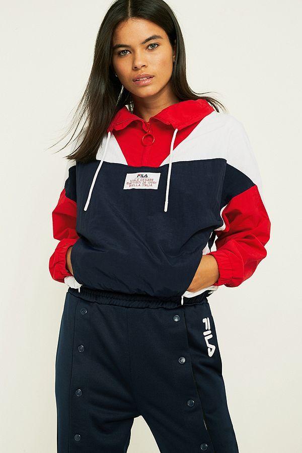 FILA Tessa Colour Block Pullover Jacket | style☀️ | Jackets, Fila ...